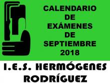 Exámenes septiembre 2018