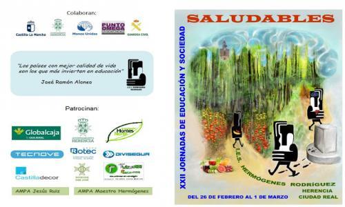 """XXII Jornadas de Educación y Sociedad: """"Saludables""""."""